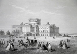 WASHINGTON DC Capitol Building Under Construction - CIVIL WAR Era Print - $39.60