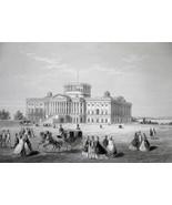 WASHINGTON DC Capitol Building Under Construction - CIVIL WAR Era Print - $39.60