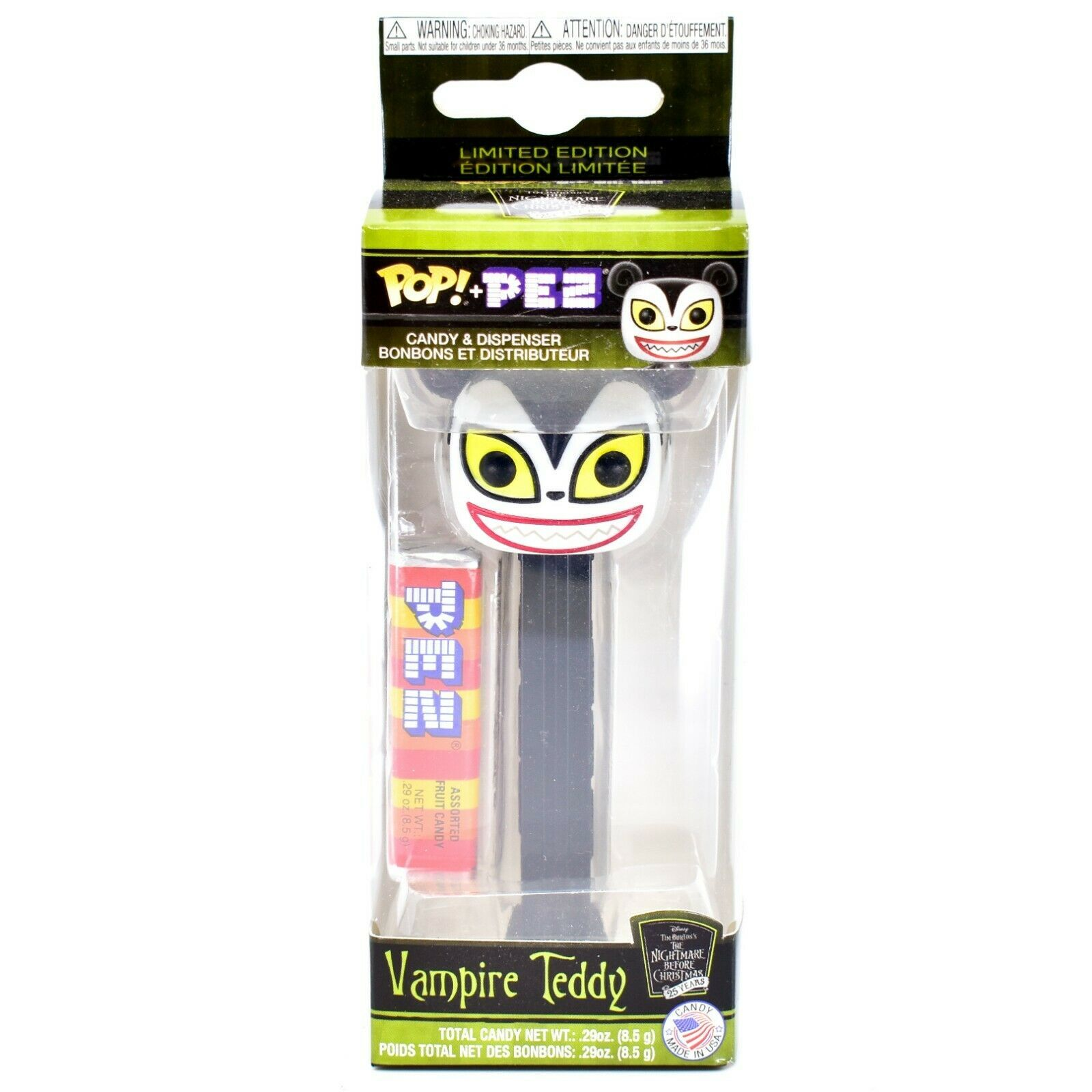 Funko Pop! Pez Limited Edition Vampire Teddy Nightmare Before Christmas 25 Years
