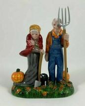 DEPARTMENT 56 Halloween Strangers Beware Pumpkin Pitchfork/AXE Black Cat - $16.78