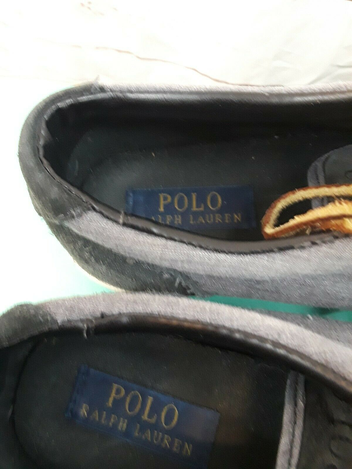 Polo Ralph Lauren Vaughn Sneaker Men's Size 8.5 Blue Canvas