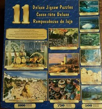 11 Deluxe Jigsaw Puzzle 7250 Pieces Dolphins Rushmore tigers Niagara SEALED - $12.59