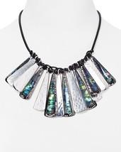 Robert Lee Morris Soho Abalone Large Charm Bib Statement Necklace $125 NWT - $83.98