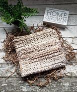 Handmade Sand Beige Cotton Dishcloths Neutral Kitchen Dish Cloths Pack o... - $19.99