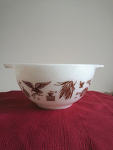 Pyrex Early American 1 1/2 PT  Mixing Bowl 401 Ovenware Vintage Made in USA - $14.34