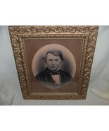 Stone Lithograph Portrait F. Loomis Brewster Mayflower Picture Art - $173.25