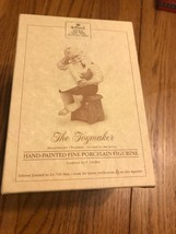 Hallmark: The Toymaker - Hand-Painted Porcelain Figure - Santa & Toy Plans - $31.98