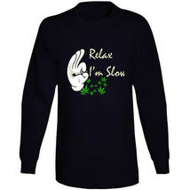 Relax I'm  Slow 420 Canna Long Sleeve T Shirt image 10
