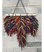 Macrame Boho Yarn Feather Wall Hanging | Boho Wall Decor | Yarn Decor |  - $32.67
