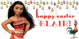 Moana Easter Basket Sticker, Waterproof and Personalized - $3.25+