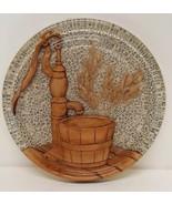 Shabby Chic Trivet Retro Well Water Pump Floral Wheat Grain Farm Country... - $24.70