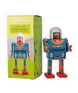 "ASTRO CAPTAIN ROBOT 5"" Saint St. John Wind Up Tin Toy Collectible Retro ... - $26.95"