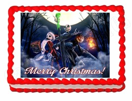 Nightmare before Christmas edible party cake topper decoration frosting ... - $7.80