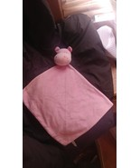 Baby girls pink hippo blanket buddy - $3.85
