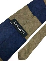 New Kenneth Cole Reaction Men's Tie Blue & Brown Fine Silk Neck Tie - $13.95