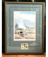 MICHAEL COLEMAN Signed Numbered 1st National Park Stamp Print 1988 WITH ... - $195.00