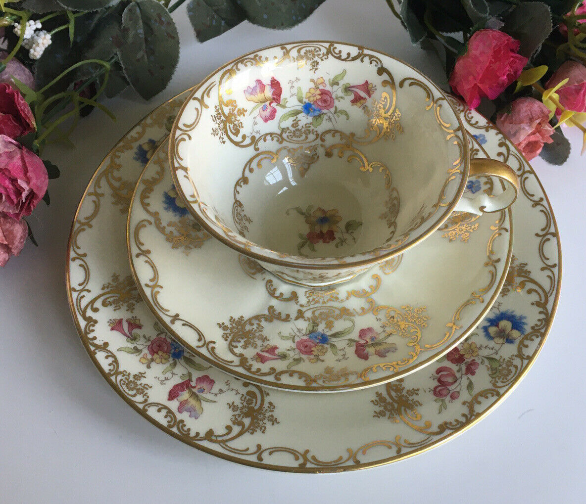 Primary image for VINTAGE RARE ROSENTHAL ELFENBEIN CUP, SAUCER AND SALAD PLATE