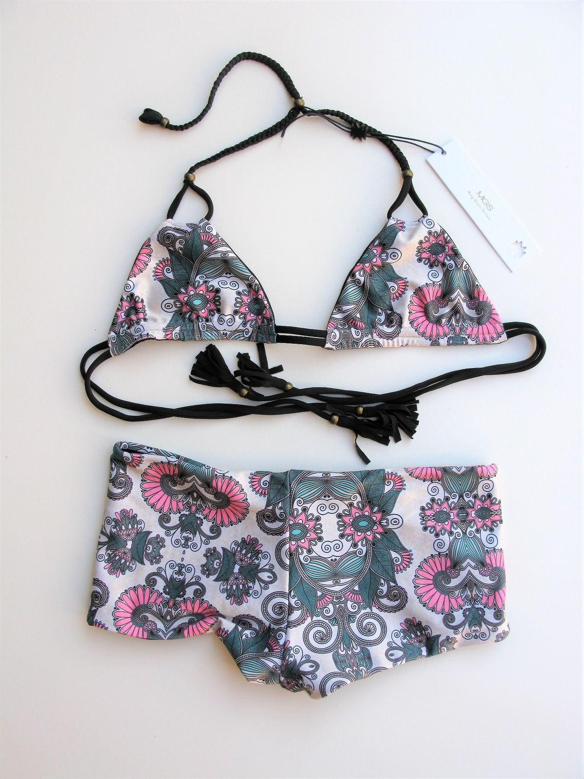 Reversible Bikini Swimsuit MGS Mary Grace Swimwear Gypsy Dreamer XS NEW $180