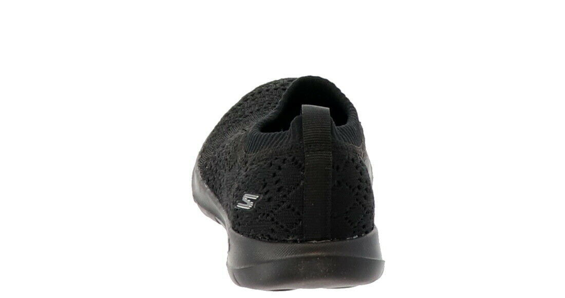 Skechers GO Walk Lite Knitted Slip-On Shoes Harmony Black 6M NEW A308763 image 2