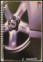 2001 Lincoln LS Spiral Wire Bound Dealer Brochure Book 01 - $8.30