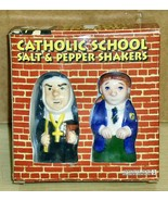 1998 Accoutrements- Catholic School Ceramic S&P Shakers - $12.86
