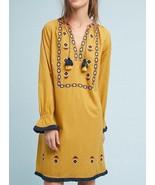 Anthropologie Merida Embroidered Tunic Dress by Riya $158 - NWT - $84.99