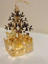 "Danbury Mint - 1990 Gold Christmas Ornament -  ""Partridge in a Pear Tree... - $14.95"