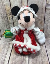 "Disney Minnie Mouse Plush Christmas Outfit 9""  2002 Happy Holidays - $15.29"