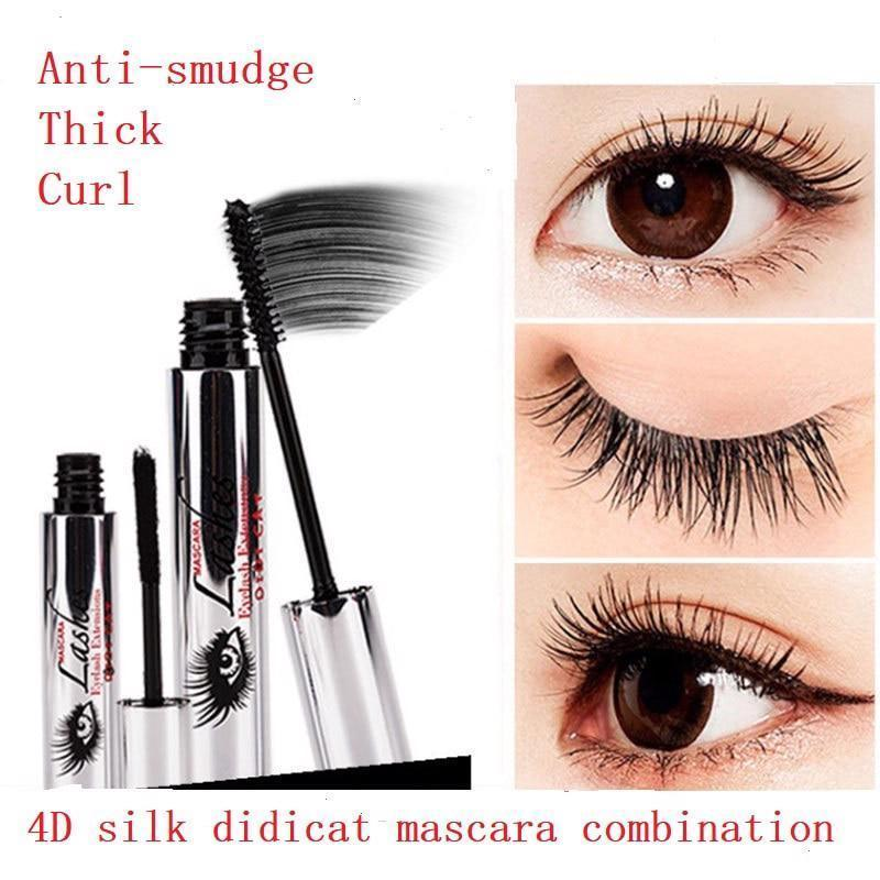 9826cc9664f DDK 4D Silk Fiber eyelash Mascara 2pcs/lot Eyelash Extension Lngthening  Volume