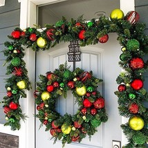 Christmas Decorations Wreath Artificial 30 in. Pre Lit 50 LED Lights Xma... - $172.15