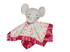 Parent's Choice Baby Floral Elephant Security Blanket Lovey Walmart Pink... - $9.75