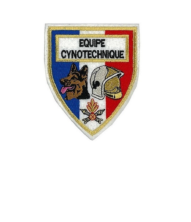 Ompiers equipe cynotechnique french fire department k 9  tactical grey small 3.25 x 2.75 in 9.99