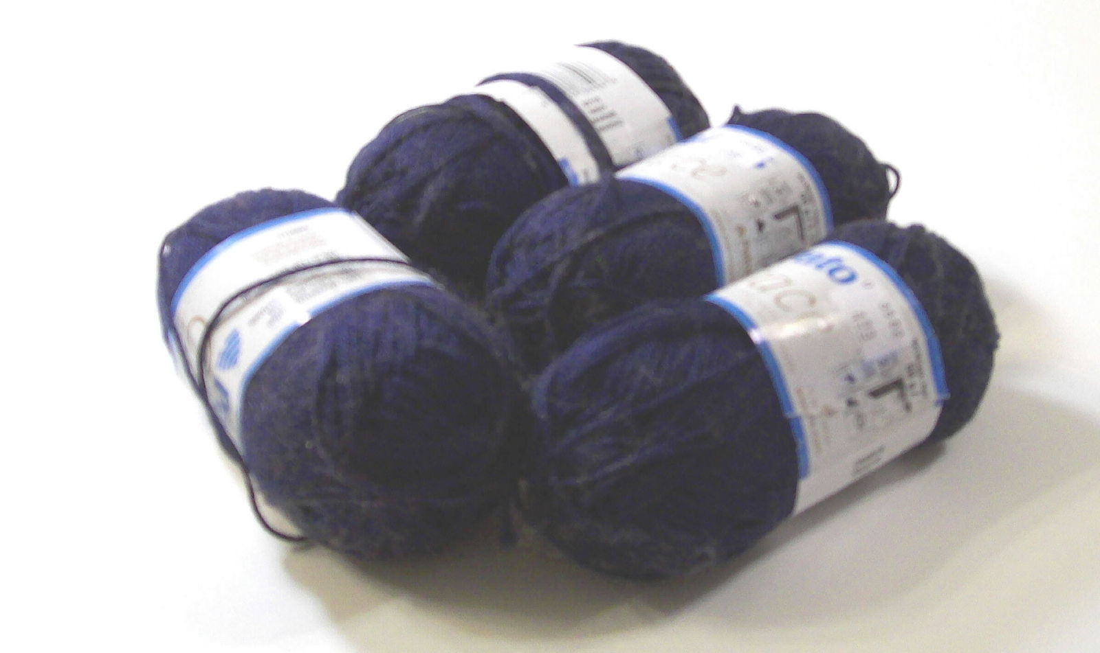 Patons Grace Yarn, 100% Mercerized Cotton, Navy Color
