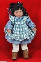 Bella Bambina 16-in Porcelain Doll Amber Ashton-Drake Galleries 1994 Blu... - $17.50