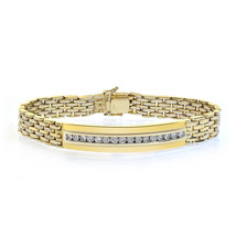 1.50 Carat Mens Diamond Bracelet 14K Yellow Gold - $3,163.05