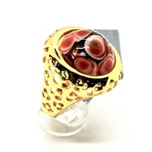 RING ANTICA MURRINA VENEZIA WITH DISC WITH MURANO GLASS RED GOLDEN AN205A14 image 4