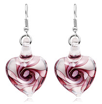 [Gift Of Wife Or Girlfriend] Murano Inspiration Fashion Love Earrings  D... - $247,41 MXN