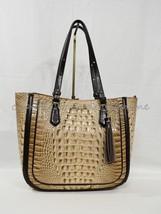NWT  Brahmin Medium Lena Leather Tote/Shoulder Bag in Travertine Vermeer image 2