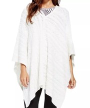 NEW VINCE CAMUTO Size XS/S Women's Ivory Cable Knit V-Neck Poncho Sweater - $55.71 CAD