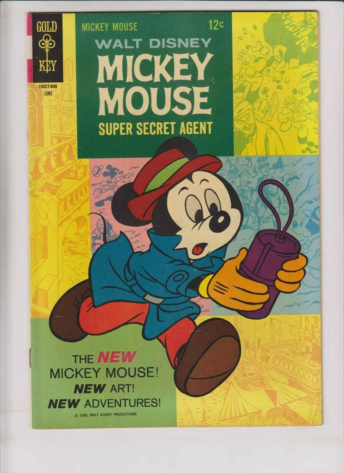Primary image for Walt Disney's Mickey Mouse #107 VF- june 1966 - super secret agent - new art