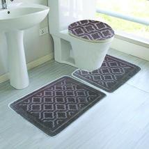Bee & M Home Fashions Geometric Pattern Polyester 3 Piece Bathroom Rug Set - $16.99