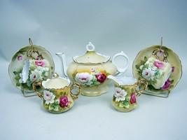 Lefton Musical Brown Heritage 7-Piece Tea Set - Vintage 1956 to 1967 - $52.57