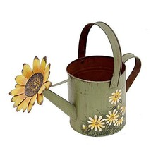 Attraction Design Antique Finish Spring Decorative Watering Can Green - $19.42