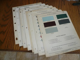 1951 52 54 55 56 57 58 59 Buick Ditzler PPG Color Chip Paint Sample - 8 Years - $28.95