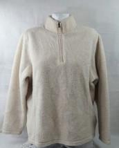 Lands End Women's Sweater Long Sleeve Cotton Standing Neck Size Large Bi... - $14.95
