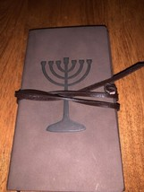 Jewish Menorah Sabbath Leather Journal, Leather Bound Journal With Lined... - $9.99