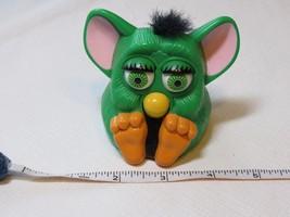 Furby McDonald's plastic toy green movement noise 1998 Tiger electronics... - $24.74
