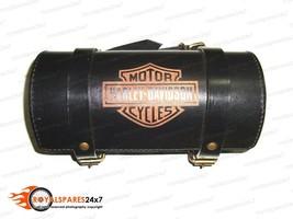 Brand New Genuine Black Leather Handcrafted Harley Davidson Tool Roll Bag - $38.59