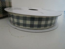 "30Foot Spool Brown Beige Plaid Ribbon 5/8"" Wide New Roll Polyester - $8.95"
