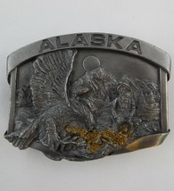 Alaska Gold Rush 1984 Siskiyou Belt Buckle Bergamot Brass Works - $18.40